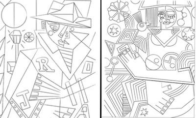 Cubisme - Créativité - Coloriage