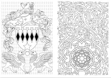 Inspiration médiévale - Créativité - Coloriage