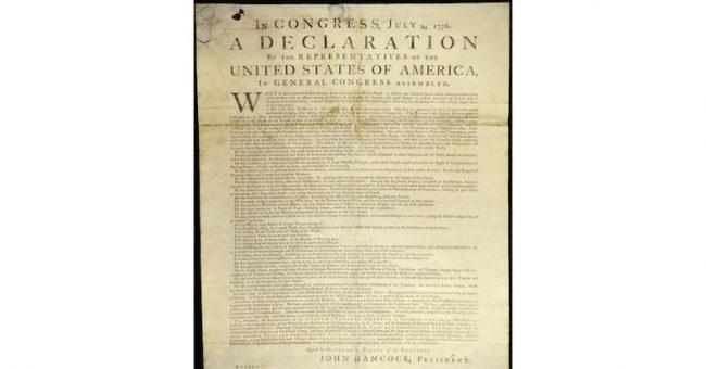 Bibliotheque numerique mondial – Declaration of independence USA