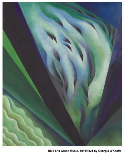Blue and green music -1919-1921 by Georgia O'Keeffe