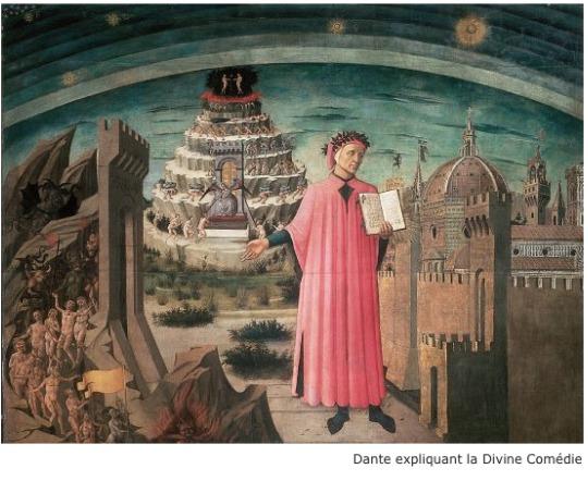 Dante expliquant La Divine Comédie