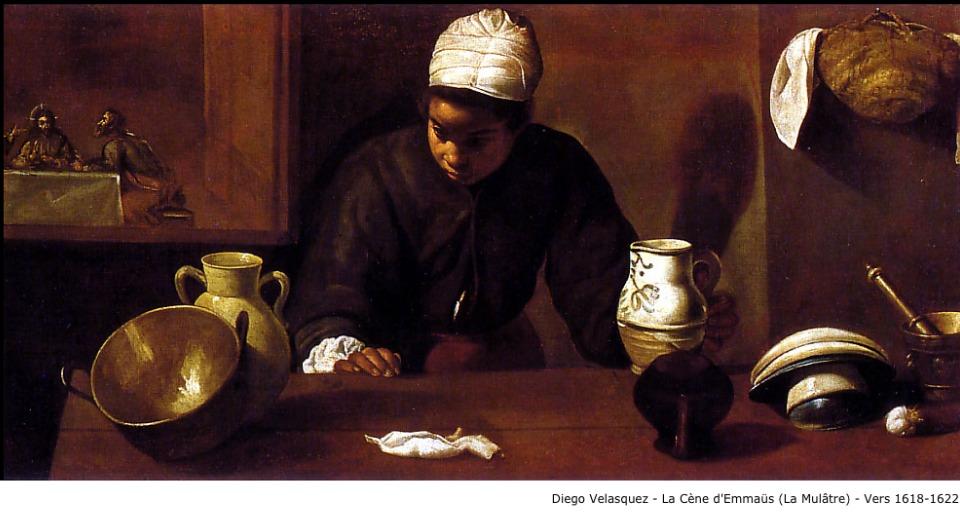 Diego Velasquez – La-cène d'Emmaüs (la mulâtre) – vers 1618-1622