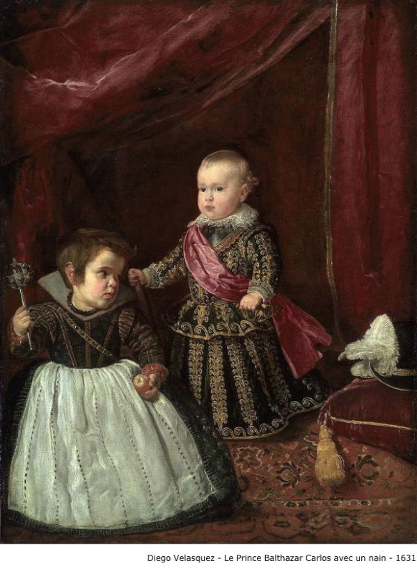 Diego Velasquez – Le prince Balthazar Carlos avec un nain – 1631