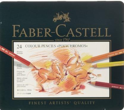 Faber Castell - Crayons de couleur polychromos - 24 pièces