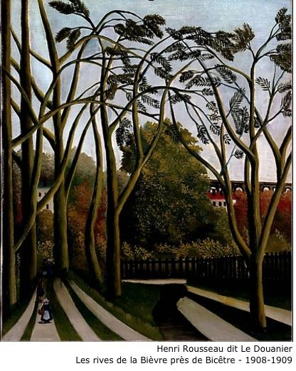 Henri Rousseau dit  Le Douanier – Les rives de la Bièvre près de Bicêtre – 1908-1909