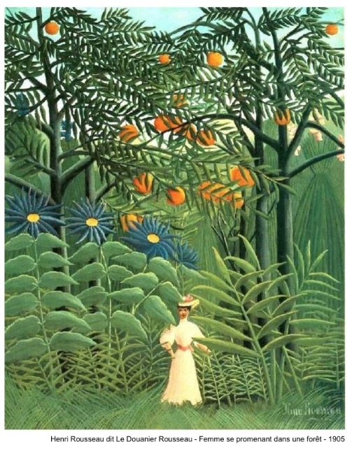Henri Rousseau dit Le Douanier Rousseau – Femme se promenant dans une forêt – 1905