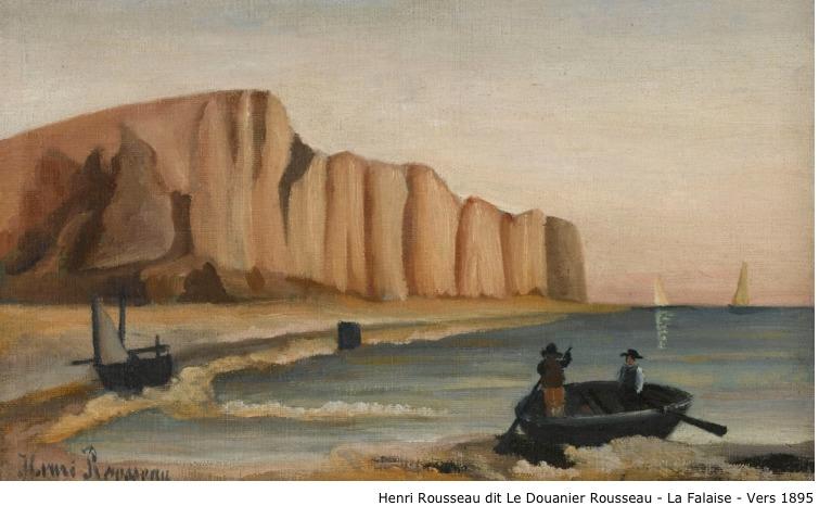 Henri Rousseau dit Le Douanier Rousseau – La falaise – vers 1895