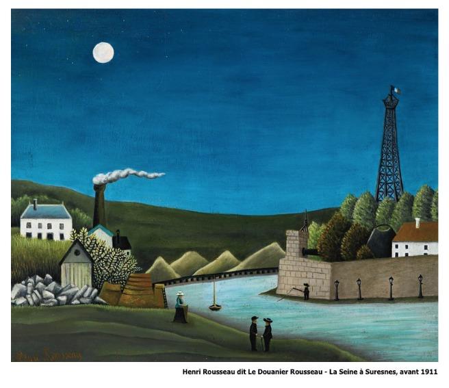 Henri Rousseau dit Le Douanier Rousseau – La Seine à Suresnes avant 1911