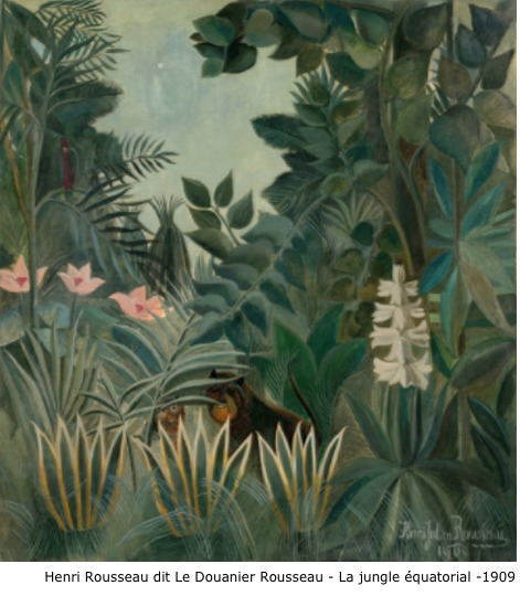 Henri Rousseau dit Le Douanier Rousseau – La jungle équatorial – 1909