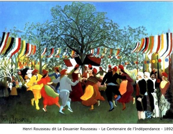 Henri Rousseau dit Le Douanier Rousseau – Le centenaire de l'Indépendance – 1892