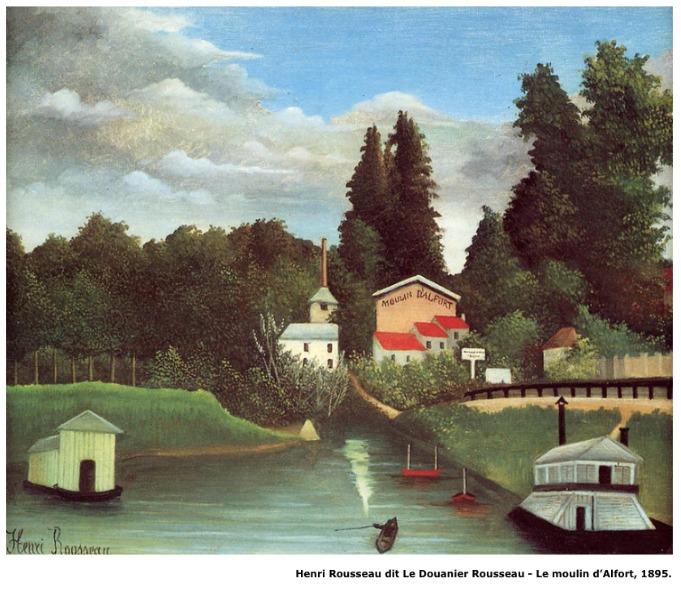 Henri Rousseau dit Le Douanier Rousseau – Le moulin d'Alfort – 1895