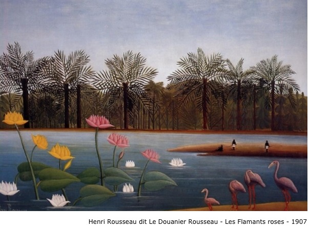 Henri Rousseau dit Le Douanier Rousseau – Les flamants roses – 1907