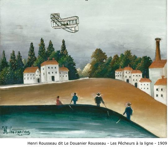 Henri Rousseau dit Le Douanier Rousseau – Les pêcheurs à la ligne – 1909