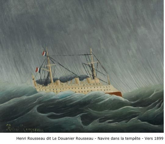 Henri Rousseau dit Le Douanier Rousseau – Navire dans la tempête – vers 1899