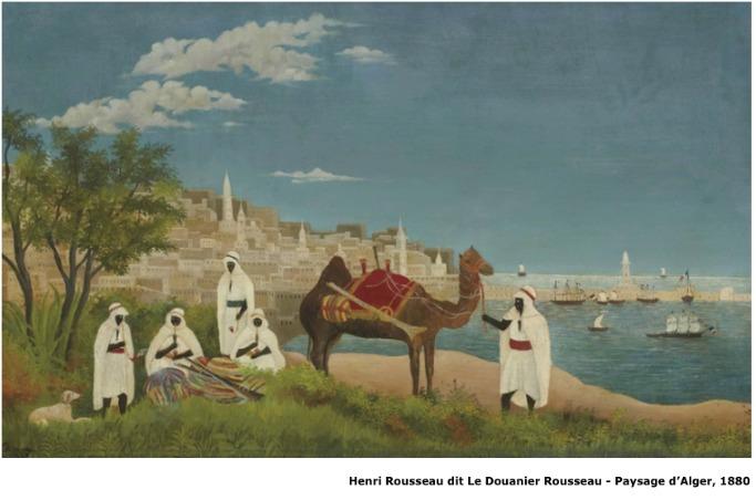Henri Rousseau dit Le Douanier Rousseau – Paysage d'Alger – 1880