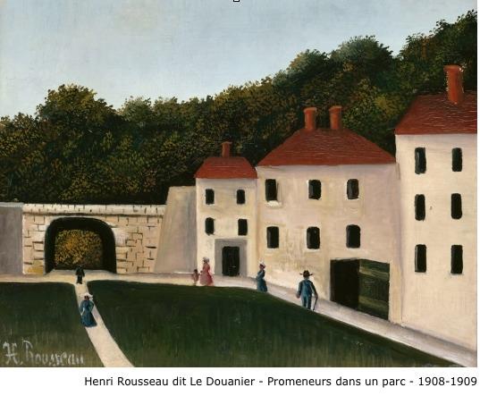 Henri Rousseau dit Le Douanier Rousseau – Promeneurs dans un parc – 1908-1909