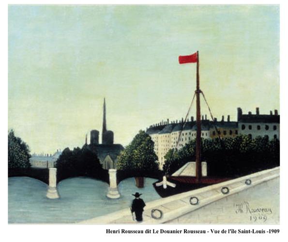 Henri Rousseau dit Le Douanier Rousseau – Vue de l'île Saint Louis – 1909