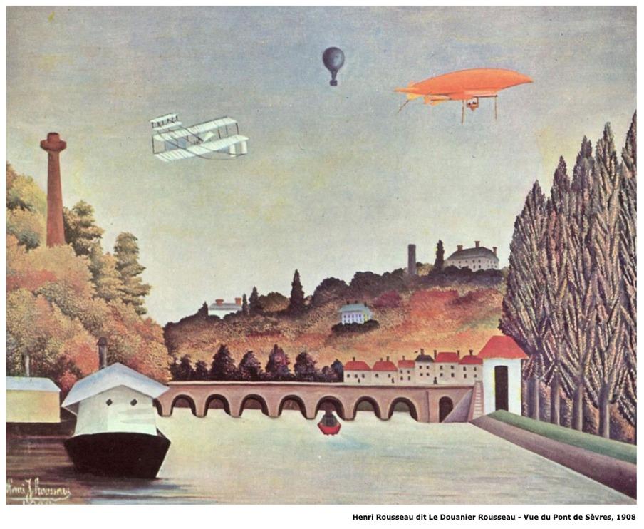 Henri Rousseau dit Le Douanier Rousseau – Vue du pont de Sèvres – 1908