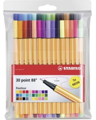 Stabilo - Pochette de 30 stylos feutres - pointe fine