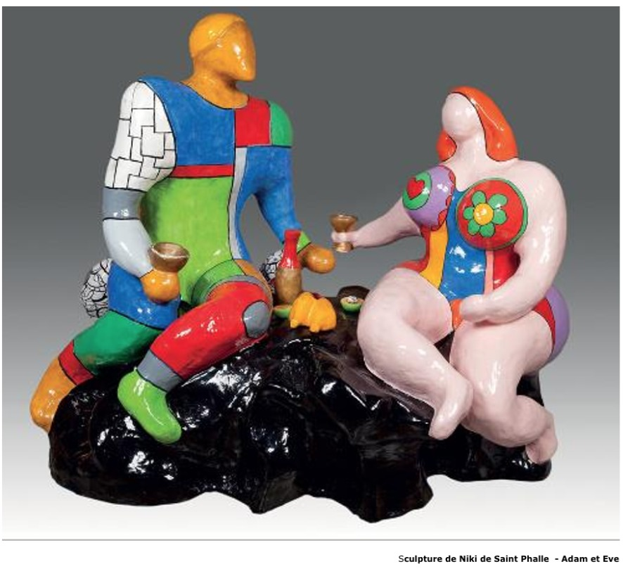 Sculpture de Niki de Saint Phalle – Adam et Eve