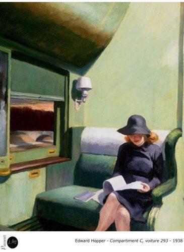 Edward Hopper - Compartiment C-Voiture 293 - 1938 - Peinture - Réalisme