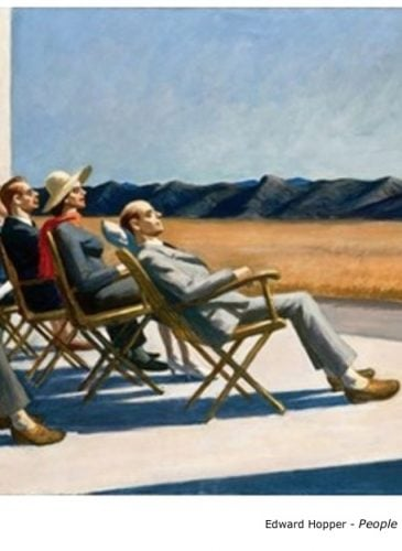 Edward Hopper - People in the sun - 1960 - Peinture - Réalisme