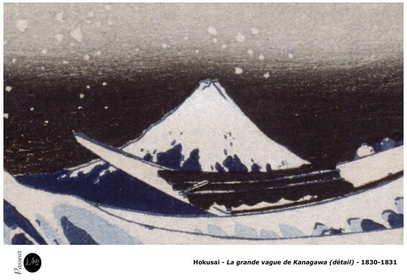 Hokusai - La grande vague de Kanagawa (1830-1831) - Détail