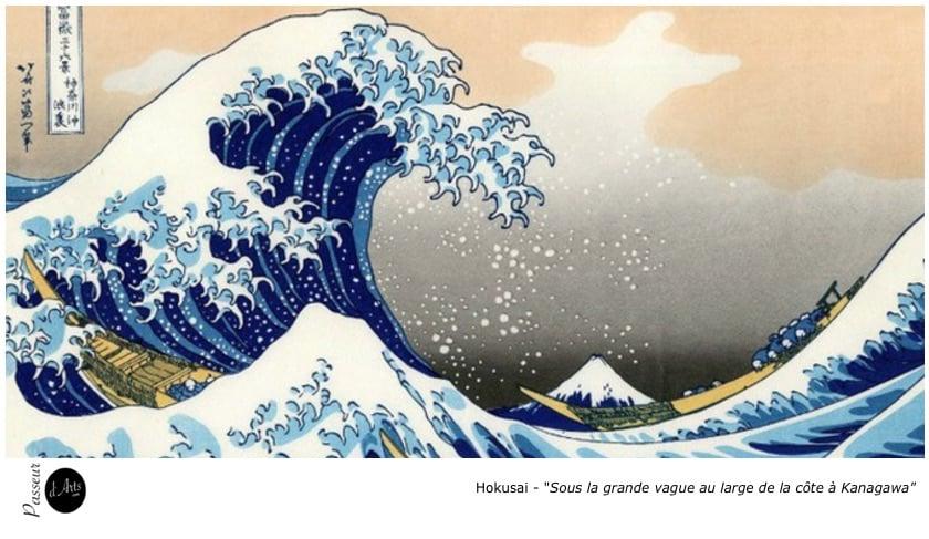 Hokusai - Sous la grande vague au large de la côte à Kanagawa