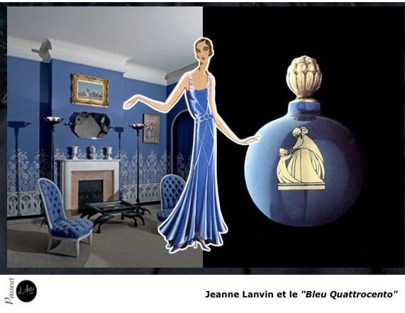 Jeanne Lanvin et le Bleu Quattrocento, haute couture