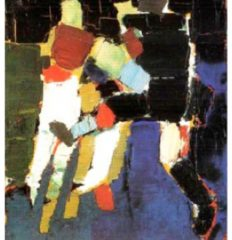 Nicolas de Staël – Série Footballeurs-1952 Art Abstrait Peinture