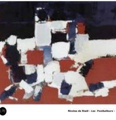 Nicolas de Staël – Série Les footballeurs – 1952 – Art abstrait peinture