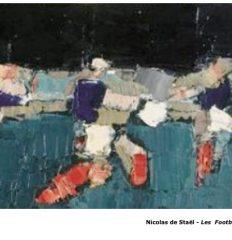 Nicolas de Staël – Série Footballeurs 1952 Art Abstrait Peinture