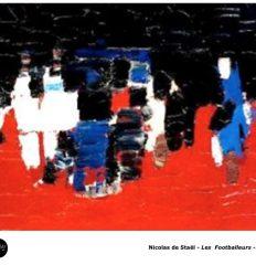 Nicolas de Staël – Série des Footballeurs-1952 Peinture Art Abstrait