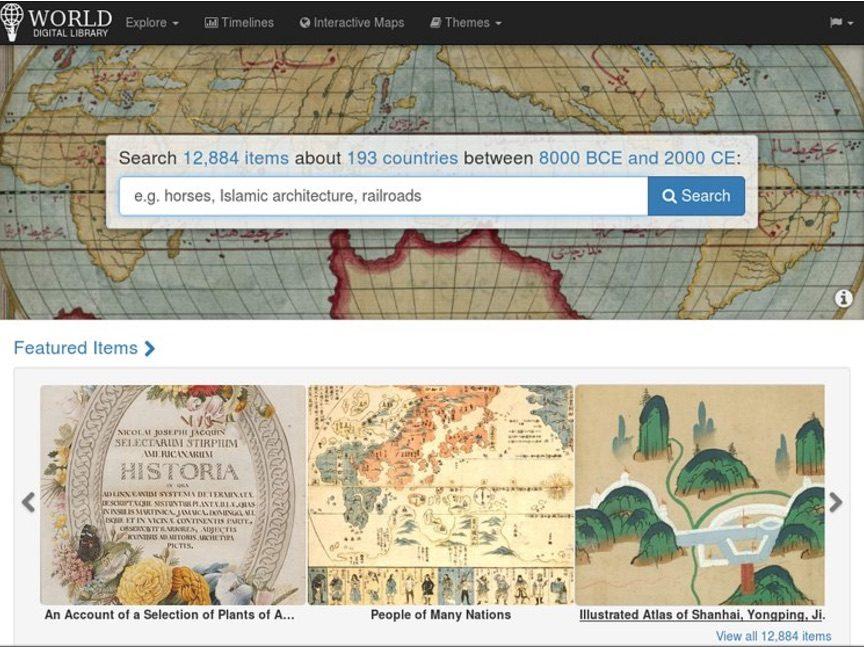 Notre patrimoine culturel mondial accessible en ligne