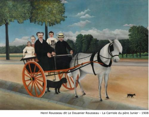 Henri Rousseau dit Le Douanier Rousseau - La carriole du père Junier - 1908