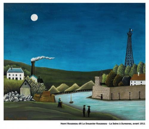 Henri Rousseau dit Le Douanier Rousseau - La Seine à Suresnes avant 1911