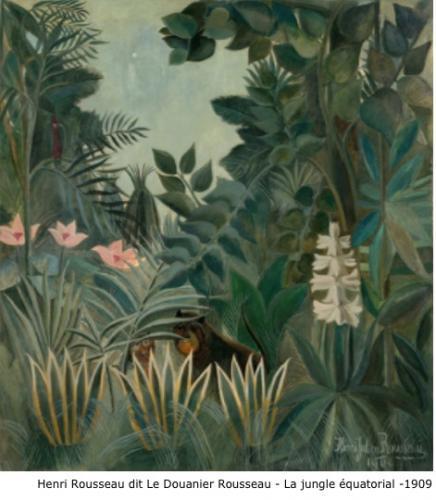 Henri Rousseau dit Le Douanier Rousseau - La jungle équatorial - 1909