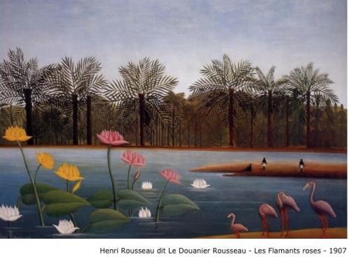 Henri Rousseau dit Le Douanier Rousseau - Les flamants roses - 1907