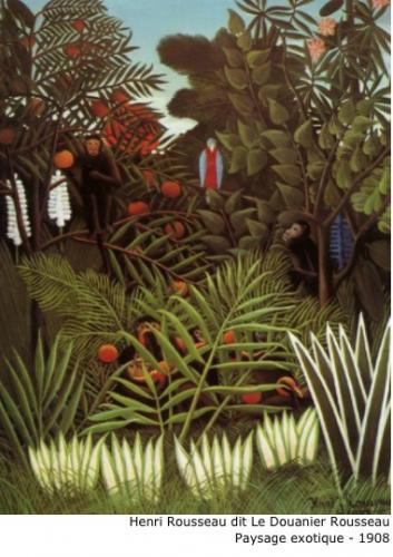 Henri Rousseau dit Le Douanier Rousseau - Paysage exotique - 1908