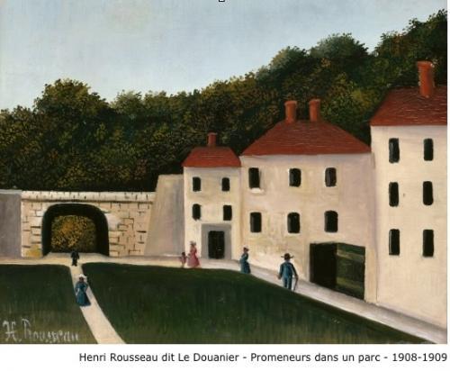 Henri Rousseau dit Le Douanier Rousseau - Promeneurs dans un parc - 1908-1909