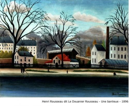 Henri Rousseau dit Le Douanier Rousseau - Une banlieue - 1896
