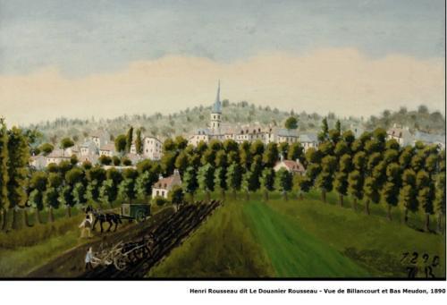 Henri Rousseau dit Le Douanier Rousseau - Vue de Billancourt et Bas Meudon - 1890